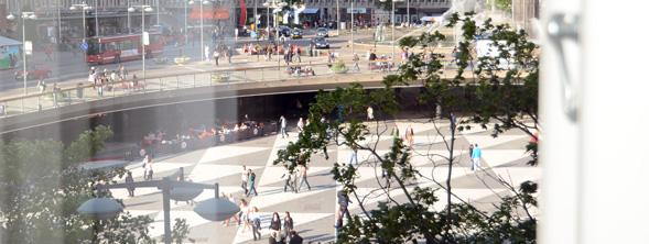 Utsikt från Stockholms kontor